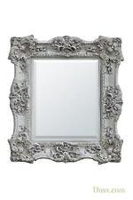 Dusx Rococo Style Boudoir Provence Antique White Decorative Wall Bedroom Mirror