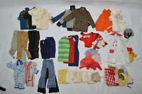 1960-70's LOT of 46 Pieces of Barbie Clothes Pants Shirts Coats etc