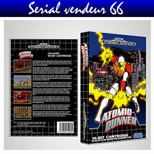 "BOX, CASE ""ATOMIC RUNNER"". Megadrive. BOX + COVER PRINTED. NO GAME. MULTILINGUAL"
