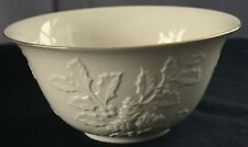 "Lenox ""Winter's Imprint"" 10"" Large Salad/Serving Bowl - Cream Colored/Gold Edge"