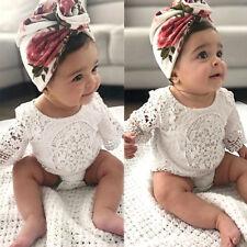 Lace Newborn Baby Girl Infant Romper Bodysuit Jumpsuit Clothes Outfits Sunsuit