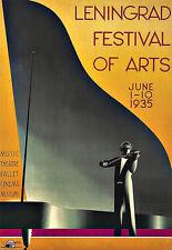 Art Ad Leningrad Festival of Arts Deco Poster Print