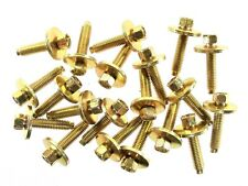 Body Bolts- M6-1.0 x 28mm Long- 8mm Hex- 19mm Washer- 20 bolts- LD#177