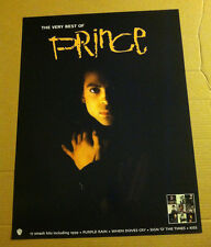 PRINCE 2001 Retail PROMO POSTER for VERY BEST OF CD 18 x 24 USA Never Displayed