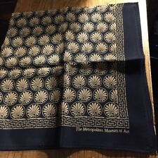 Metropolitan Museum Of Art 100% Silk Fan Design Scarf Made in Japan