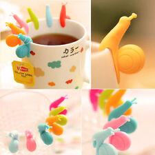 5x Lindo Caracol forma bolsa de té titulares Taza Cocina Regalo Candy Colores Defuser Reino Unido