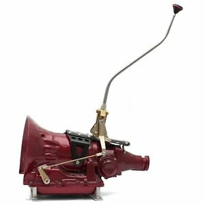 "GM350 (TH) Single Action Shifter Kit 23"" Arm w/ Dual Bend and Delux Knob rat"