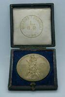 1885 ECRIN LIGUE DES PATRIOTES MEDAILLE CUIVRE 2e CONCOURS NATIONAL DE TIR PARIS