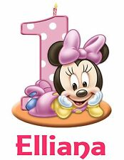 Personalized Custom Mickey Minnie Mouse 1st Birthday T Shirt Party Gift Name On
