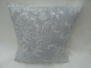 Lovely Laura Ashley Designer Cushion Cover MADDOX SILVER Fabric Various Sizes