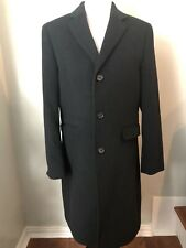Express Men's Size Small S Long Pea Coat Jacket Black Wool Blend 2008 90118