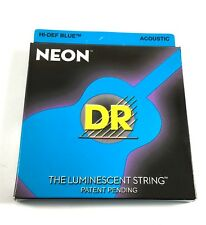 DR Guitar Strings Acoustic Neon Blue Medium 12-54 Luminescent