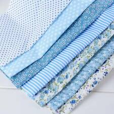 7PC/set Cotton Fabric Assorted Pre-Cut Fat DIY Quarters Bundle 25x25 DIY New //k