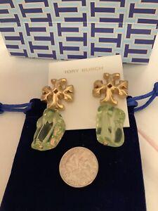 Tory Burch Xtra Large Roxanne Green Earrings