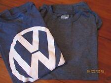 2 Men Size L T-shirts Navy  Volkswagen Logo & Goldtoe Ultimate Comfort Gray Tee