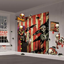 Halloween Mega Creppy Carnival Circus Party Scene Setter Wall Decorating Kit