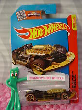 Case L/M 2015 i Hot Wheels X-STEAM #145∞Black/Brown/Gold;oh5∞X-Raycers∞New Model