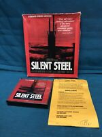 PC CD ROM SILENT STEEL 1995 Have othCinematic Video Military Submarine Adventure