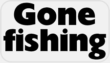 Gone Fishing - 50 Stickers Pack 2.25 x 1.25 inches - Fisherman Fish Gift Sport