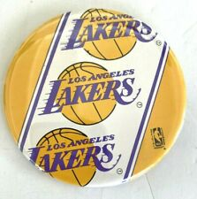 "Vintage 1980's NBA Los Angeles Lakers Logo Basketball  Pin Button Pinback 3.5"""