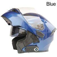 Bluetooth Motorcycle Dual Visor Full Face Modular Flip Up Helmet Helmet (Blue)