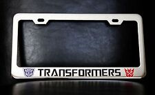 """TRANSFORMERS"" License Plate Frame, Custom Made of Chrome Plated Metal"