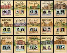 15 Miniature Sheets 1985 Queen Mother St. Vincent Tuvalu Nevis  St Lucia etc MNH