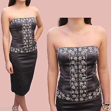 Warehouse gris satin embelli 2 pièce tenue corset & jupe robe de cocktail 10