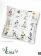 Thea Gouverneur - Counted Cross Stitch Kit - 2074A Wild Flower Cushion - NEW