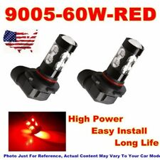 2X 9005 H10 HB3 60W Auto Car LED Fog Lights Hi-Power Lamps Bulbs Bright Red US