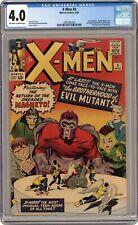 Uncanny X-Men #4 CGC 4.0 1964 2082585002 2nd app. Magneto