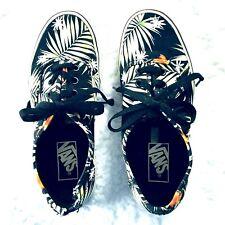 ba0a93345bdc98 Vans Men Womens Shoes Classic Tropical Print Size 4.5 M Size 6 W Black Palm