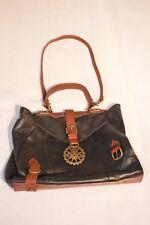 Vivienne Westwood Black Leather Gold Orb Pop Buckle Shoulder Strap Holdall Bag