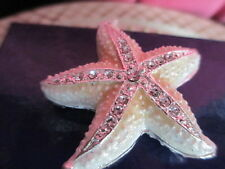 Starfish Angelic White Jeweled & Enamel Trinket Box ~ Boutique Miniature 61157