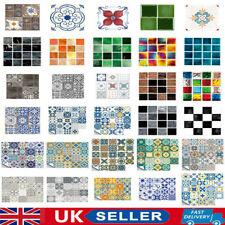 Mosaic Sticker Kitchen Tile Sticker Bathroom Self-adhesive Wall Decor Home DIY