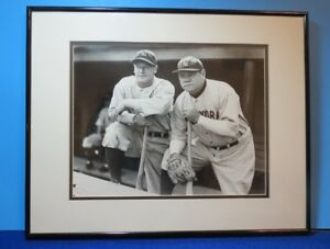 """BABE RUTH & LOU GEHRIG ~ """"The Babe And The Iron Horse"""" ~ PHOTO ~ FRAMED & MATTED"""