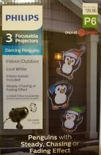 Philips 3 Focusable Projectors Dancing Penguins Steady Chasing Fading Effect NEW