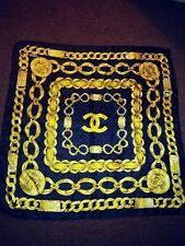 New listing Vtg Black Chanel Cc Logo 31 Rue Cambon France Gold