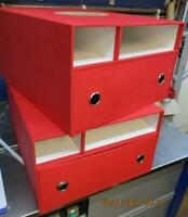 2 x Hornby Premier Set Storage Boxes ONLY with Bottom Drawers + 2 Open Shelves
