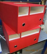 2 x Hornby Premier Set Aufbewahrung Boxen nur mit unten Schubladen + 2 offene Regale