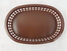 "8 Serving Food Baskets Plastic Tablecraft Restaurant Quality Brown 10.75"" x 7"""