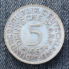 GERMANY 1957 F 5 Mark - Silver - Very Nice Coin