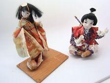 NINGYO Japanese Vintage Doll Gofun & WARRIOR 2pc LOT