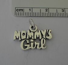 Sterling Silver 18x21mm Mom Mother Daughter Mommy's Girl Charm