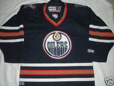 Edmonton Oilers SEWN NHL HOCKEY CCM BLANK ALTERNATE AUTHENTIC JERSEY