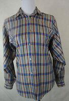 Modische BENETTON  Bluse, Hemd   mehrfarbig kariert  Gr M = 38-40