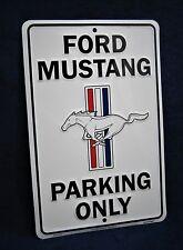 FORD MUSTANG Parking - *US MADE*- Embossed Metal Tin Sign - Man Cave Garage (Wt)