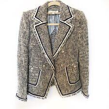 Veronica Beard Theron Blue Tweed Blazer Jacket Size 0 New