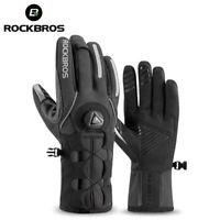 RockBros Warm Gloves Riding Gloves Motorcycle Gloves Velvet Warm Gloves