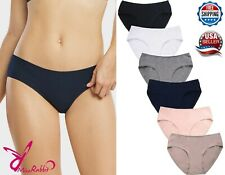 Lot of 6 pcs Women Ladies Cotton Bikini Black White Panty Panty Underwear S-XL